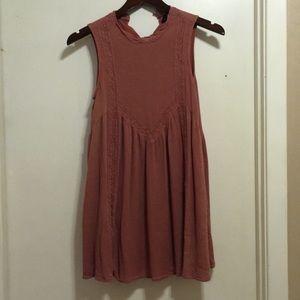 Dusty Rose Shift Dress